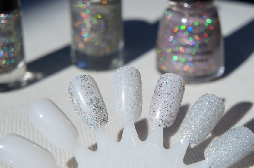 L to R:  Essence Hello Holo, Catrice MS Have An Ice Day, Icing by Claire's Sugar Coated