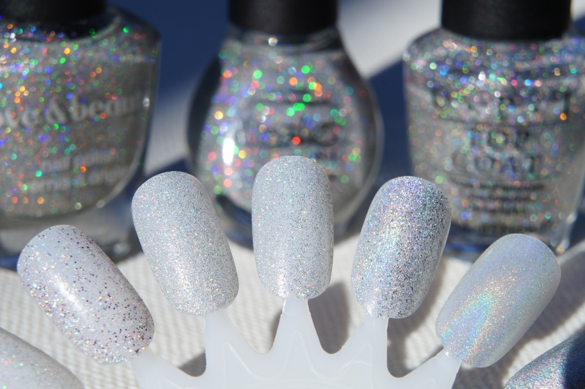 L to R :  F21 Love & Beauty Silver, NOPI Make A Comet-ment, OPI Paris Couture for Sure Glitter Top Coat