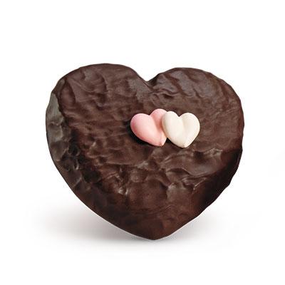 dark choco raspberry heart