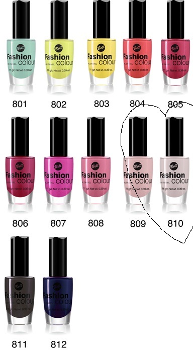 Bell Fashion Colour lineup